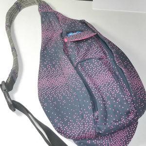 Kavu Bags - Kavu Pink Navy Blue Polka Dot Rope Bag